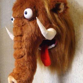 Голова мамонта Игрушки по рисункам Игрушки на заказ по фото, рисункам. Шьем от 1 шт.