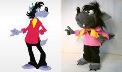 """Волк из мультфильма """"Ну, погоди!"""" Мультфильмы Игрушки на заказ по фото, рисункам. Шьем от 1 шт."""