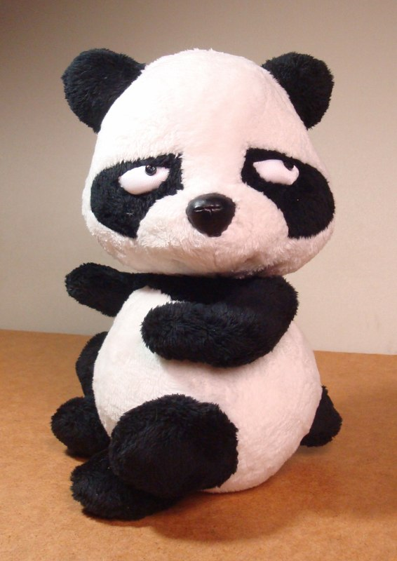 Обиженная панда Игрушки по рисункам Игрушки на заказ по фото, рисункам. Шьем от 1 шт.
