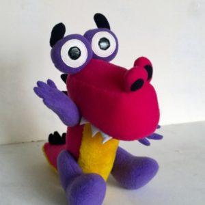 Динозаврик Гриша Игрушки по рисункам Игрушки на заказ по фото, рисункам. Шьем от 1 шт.
