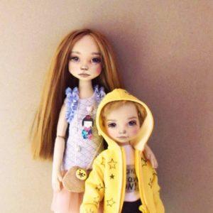 Портретные куклы брат и сестра Куклы Игрушки на заказ по фото, рисункам. Шьем от 1 шт.